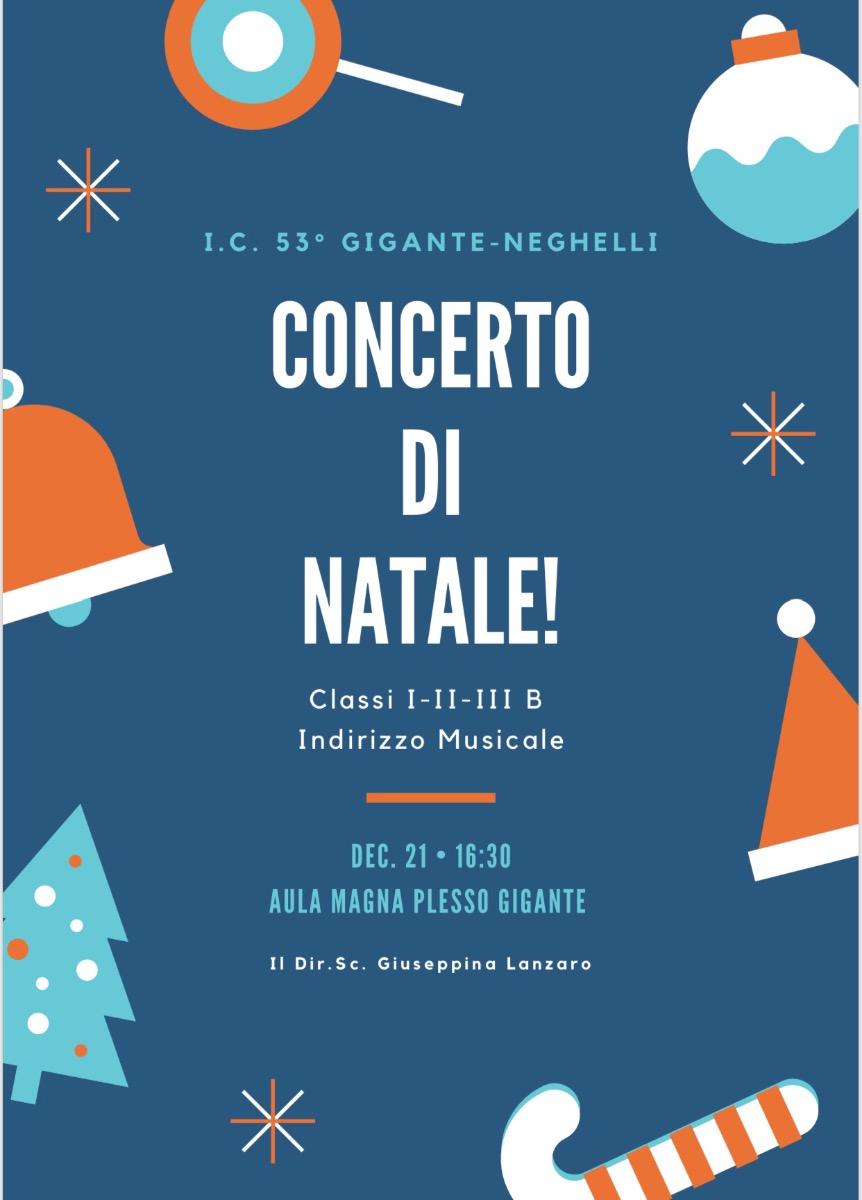 Concerto di Natale 2018 Sez. B Secondaria I grado ad indirizzo musicale 21 Dicembre ore 16.30